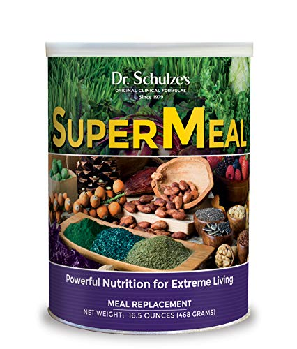 Dr. Schulze's | SuperMeal | Organic SuperFood Powder | Vegan Dietary Supplement to Boost Energy & Improve Fitness | Weight Loss Aid | Non-GMO & Gluten-Free | 16.5 Oz.
