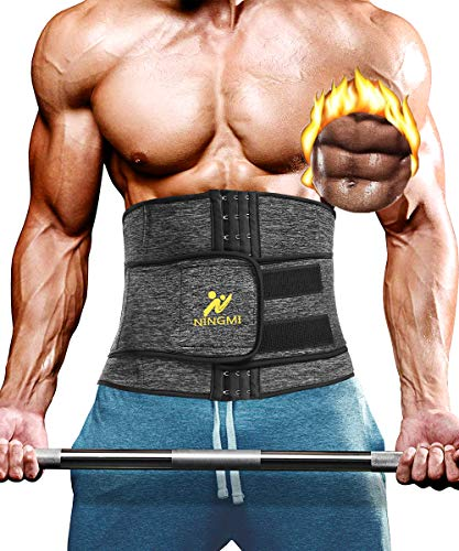 NINGMI Waist Trimmer Belly Weight Loss Fat Sauna Sweat Wrap and Workout Waist Trainer