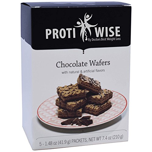 ProtiWise - Chocolate Diet Wafer Bars   5/Box   High Protein, Low Sugar, Low Fat, Low Carb, Low Calorie