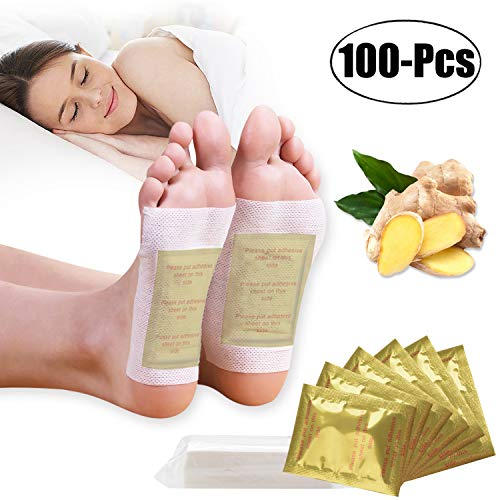 Foot Pads,Kapmore 100pcs Foot Pads for Anti-Stress Relief, Sleeping,Natural Cleansing Foot Pads for Foot Care with 100Pcs Adhesive Sheets