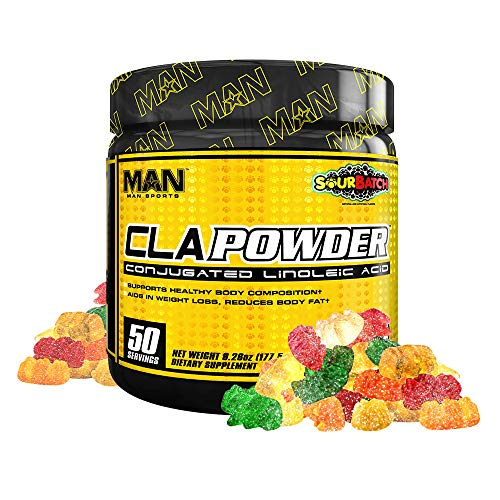 Man Sports CLA Powder. Sour Batch Flavored CLA Fat Burner Powder for Weight Loss and Increasing Muscle Mass (50 Servings)