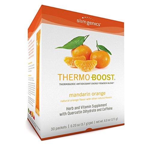 SlimGenics Thermo-Boost  | Thermogenic Powder Energy Drink Mix – Antioxidant, Anti-Aging Properties - Metabolism Booster, Weight Loss for Women - Fights Fatigue and Inflammation (Mandarin Orange)