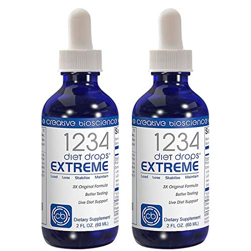 Creative Bioscience 1234 Diet Drops Extreme (2 Pack) - Weight-Loss-Drops - Appetite Control - Keto Diet - (IF) Intermittent Fasting - 1234 Diet Books 2 Fl Oz (2 Pack)