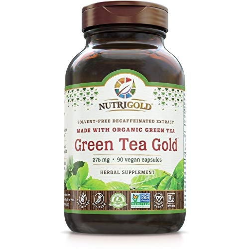 NutriGold Green Tea Gold - Metabolism, Weight-Loss, and Immune Support, 90 Organic Veggie Capsules