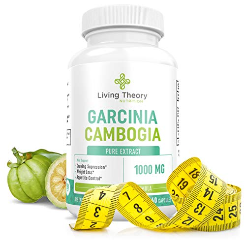 100% Pure True Slim Garcinia Cambogia Weight Loss Extract - Appetite Suppressant for Weight Loss & Carb Blocker - Ultra Slim HCA Garcinia Cambogia Craving Control - 1000 mg 60