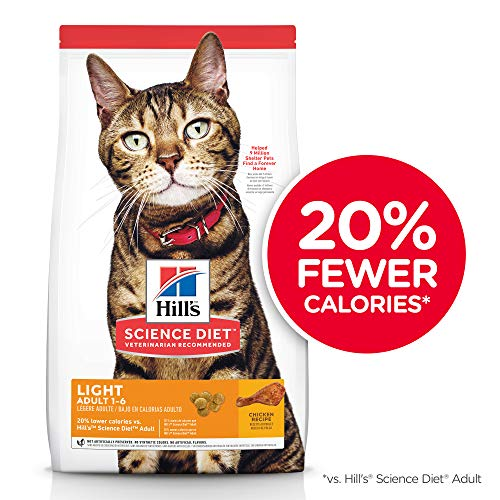 Hill's Science Diet Dry Cat Food, Adult, Light for Healthy Weight & Weight Management, Chicken Recipe, 7 lb Bag