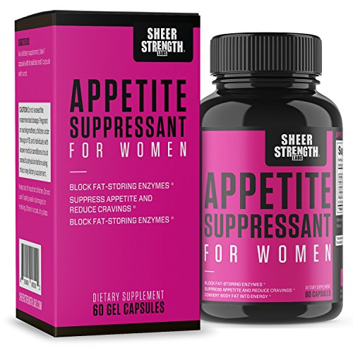 Sheer Appetite Suppressant for Women - Custom Made to Help You Slim Down, Tone Up, and Lose Weight Now - New from Sheer Strength Labs - 60 Weight Loss Diet Pills