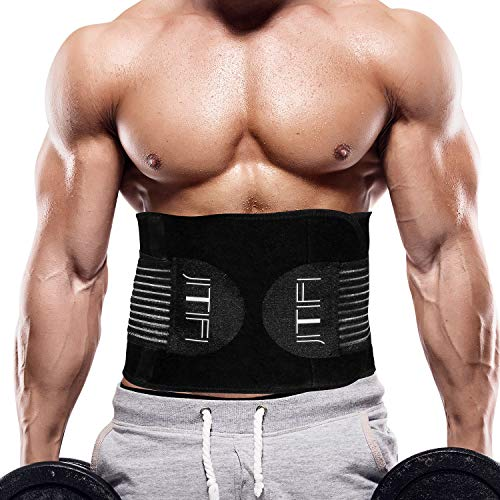 JITIFI Waist Trainer Corset Weight Loss Sport Slimming Body Shaper Long Torso (Black, Medium)