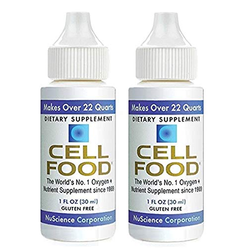 Cellfood Liquid Concentrate, 1 oz. (2 Pack) - Original Oxygenating Immune Support Formula - Seaweed Sourced Minerals, Enzymes, Amino Acids, Electrolytes - Gluten Free, Non-GMO, Certified Kosher