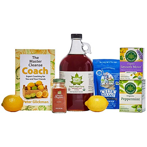 Maple Valley Master Cleanse 10 Day Detox/Kit with 64 oz Glass Bottle Organic Maple Syrup and The Master Cleanse Coach Book by Peter Glickman