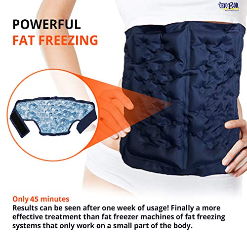 Fat Freezer Belt-Fits from 29' to 39' Waist- Cold Body Sculpting for Easy Slimming & Weight Loss - Tummy Tuck, Shrink Belt Wrap - Skin-Safe Fat Trimmer to Get Slimmer - for Women and Men