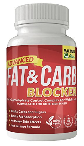 Maximum Slim Fat & Carb Blocker Pure Kidney Bean Extract for Weight Loss and Appetite Suppressant, 1600mg Per Serving. Recently Featured on TV