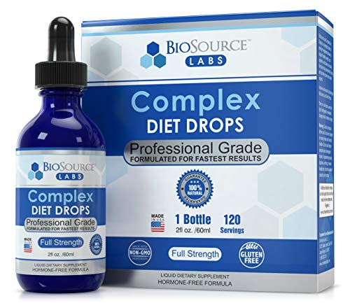 BioSource Labs Complex Diet Drops – Best Natural Weight Management Drops for Men and Women (1 x 2-Ounce Bottle)