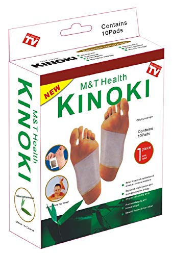 Kinoki Foot Pads for Your Health Care – 10 Premium Natural Foot Patches – Adhesive Foot Pads for Foot Pain Relief – Eliminator Unpleasant Odors of Feet