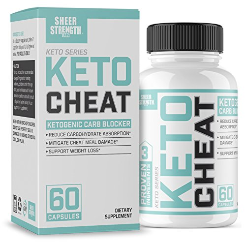 Extra Strength Ketogenic Carb Blocker & Appetite Suppressant - Promotes Healthy Weight Loss - White Kidney Bean, Green Tea Extract, Cinnamon - 60 Fat Burner Pills - Sheer Strength Labs