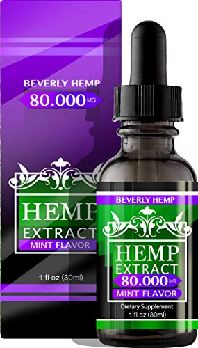 Hemp Oil 80.000 Anxiety Reducer. Pain Relief. Natural Sleep Aid. Weight Management .with Natural Mint Flavor. (1)