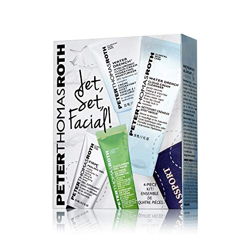Jet, Set Facial! 4-Piece Kit, Includes Travel-Sizes of a Cleanser, Peeling Gel, Moisturizer and Mask