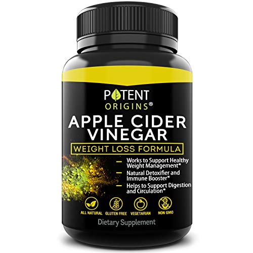 100% Natural Apple Cider Vinegar - 90 Capsules for Healthy Diet & Weight Loss- Pure, Raw, Vegan and Non-GMO - Helps Digestion - Made in USA - Add to Garcinia Cambogia​ and Your Diet Kits & Systems