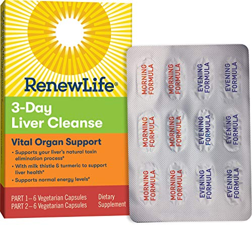 Renew Life Adult Cleanse - 3-Day Liver Cleanse - Vital Organ Support - 2-Part, 3-Day Program - Gluten, Dairy & Soy Free