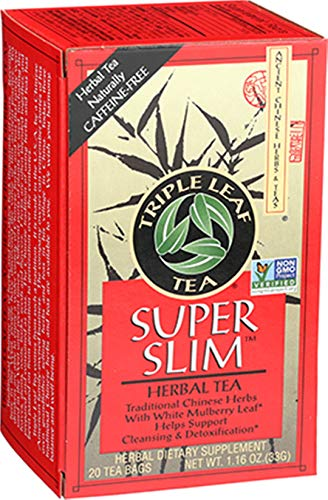 Triple Leaf Tea, Tea Bags, Super Slimming, 20 Count (Pack of 6)