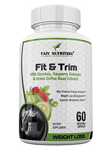 Taiy Nutrition Extra Strength Appetite Suppressant for Weight Loss Garcinia Cambogia Raspberry Ketones Green Coffee Bean Extract, Natural Fat Burner & Metabolism Booster, Contains Caffeine