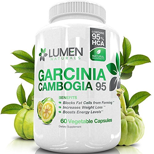 Pure Garcinia Cambogia Fruit Extract 95% HCA - Weight Management Pills for Men & Women - Decrease Appetite & Boost Metabolism Naturally - 60 Count