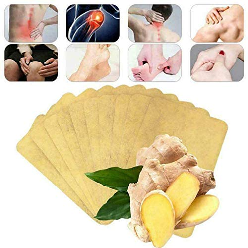 50Pcs Herbal Ginger Patch, Promote Blood Circulation, Relieve Pain and Improve Sleep, one of The Best Natural Solution for Lymphatic Drainage, Body Pain, migraine, Joint Pain and Stomach Bloating
