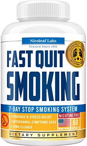 Lung Cleanse & Fast Quit Smoking Aid - Detox Pills for Clear Lungs - Made in USA - Provides Lung Health Support, Asthma Relief & Helps Stop Smoking - Lung Detox & COPD Relief with Mullein & Lobelia