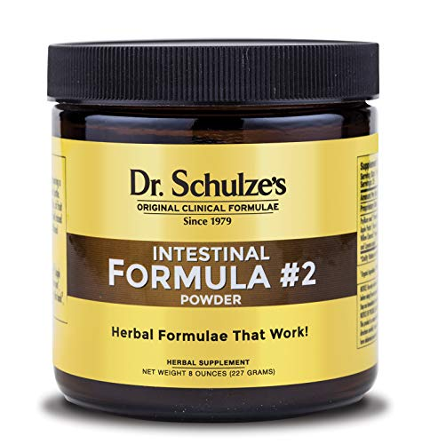 Dr. Schulze's | Intestinal Formula #2 | Herbal Colon Cleanse Formula | Natural Detox Powder| Dietary Supplement | Remove Excess Waste, Poisons & Build-Up | Gastroenteric Vacuum | 8 Oz. Jar