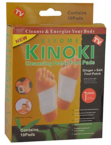Kiyome Kinoki Foot Patches Bamboo Foot Pads by Pure Sole Foot & Body   All Natural & Premium Ingredients for Best Relief & Results   Apply, Sleep & Feel Better   No Stress Packaging   10 Pack