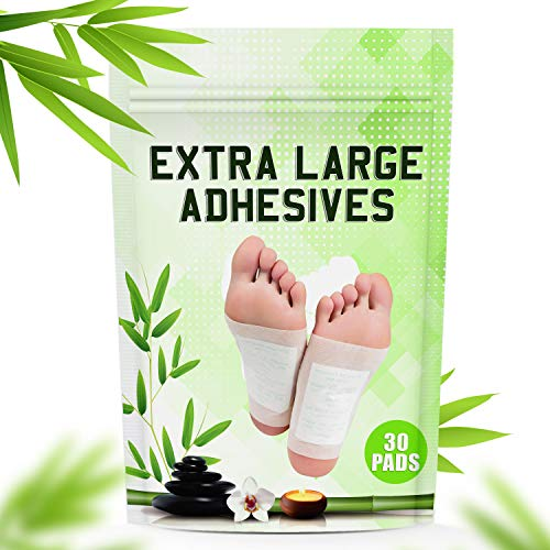 POSITIVA Premium Foot Pads - All Natural Bamboo Vinegar Detox Foot Pads - Cleansing Foot Detox Pads - Pack of 30