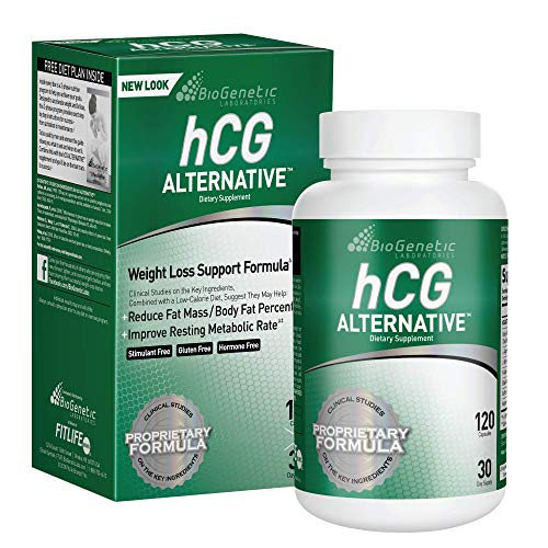 BioGenetic Laboratories hCG Alternative Formula Weight Loss Pills and Fat Burner for Men and Women - Boosts Metabolism Supports Healthy Diets - 30 Day Supply (120 Capsules)