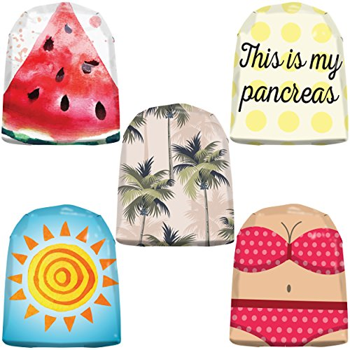 20 Pack Omnipod Adhesive Stickers - Accessory Patches for Omnipod Insulin Pump - Fun Vacation Designs