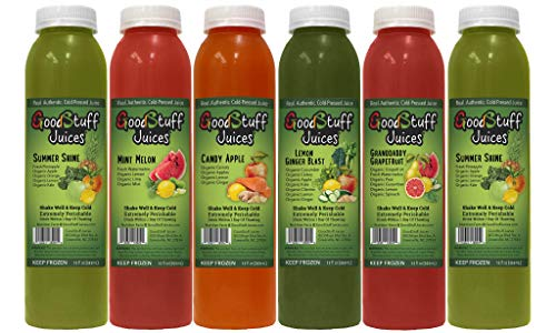 3 Day Organic Juice Cleanse by Good Stuff Juices - Summer Slim Kit - Detox Your Body, Lose Fat, and Feel Great - Cold-Pressed - Premium Taste - 18 Juices - 12oz