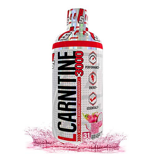 ProSupps L-Carnitine 3000 Liquid Fat Burner, Stimulant Free Metabolic Enhancer, (31 Servings, Dragon Fruit)