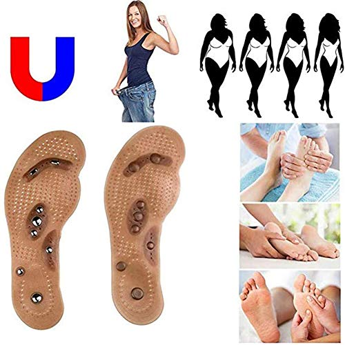Enwepoeo Fast Acupressure Slimming Insoles, Health Foot Magnetic Therapy Magnet Acupressure Shoe/Boots Pads,35/40