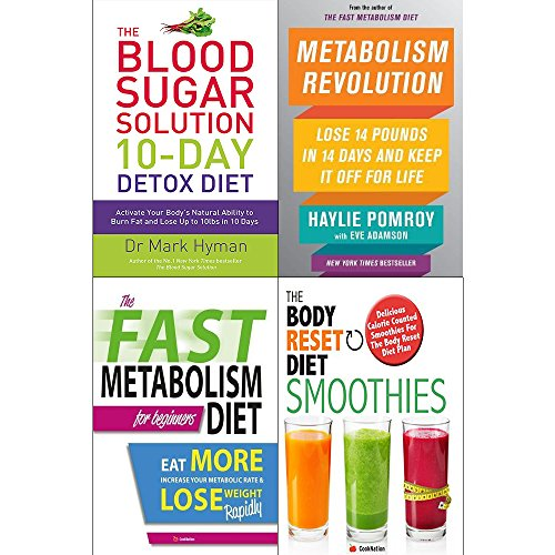10 Day detox diet, metabolism revolution [hardcover], fast metabolism diet and body reset diet 4 books collection set