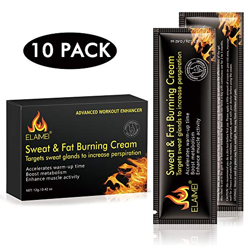 Hot Sweat Cream, Extreme Cellulite Slimming & Firming Cream, Body Fat Burning Massage Gel Weight Losing, Hot Serum Treatment for Shaping Waist, Abdomen and Buttocks Legs 60ml (10 pack)