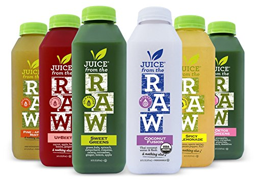 Juice From the RAW 3 Day ORGANIC Juice Cleanse - Whenever Cleanse - 18 Bottles - FREE 2-Day Delivery