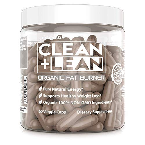 Clean+Lean-Organic Fat Burner by FitFarm USA - Worlds First Organic Fat Burner Supports Healthy Weight Loss + Immune Boosting phytonutrients & antioxidants! GF+Vegan