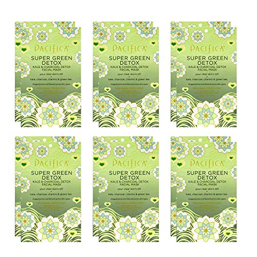 Pacifica Super Green Detox Facial Mask, 12Count