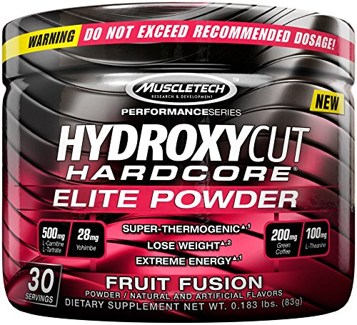 Hydroxycut Hardcore Elite Powder Fruit Fusion, 30 Servings, 72 Grams