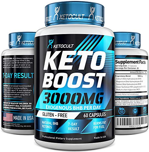Keto Diet Pills - 5X Potent - Fat Burner 3000mg - Made in USA - Weight Loss Keto Burn - Exogenous Keto BHB Supplement for Women and Men - Keto Supplement & Metabolism Support - BHB Keto Burn