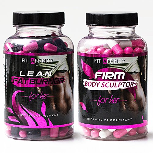 FIT AFFINITY Lean & Sculpted Bundle - Fat Burner for Women • Best All Natural Weight Loss Pills - Thermogenic Fat Loss Supplement & Appetite Suppressant Diet Pills - 90 Capsules (Each Bottle)