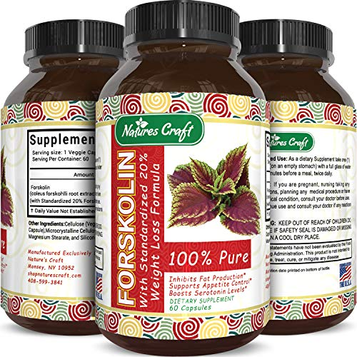 Forskolin Supplement Natural Appetite Suppressant - Forskolin for Weight Loss Maximum Strength Metabolism Booster Sugar Blocker Belly Fat Burner Immune Support and Carb Blocker - Natural Weight Loss