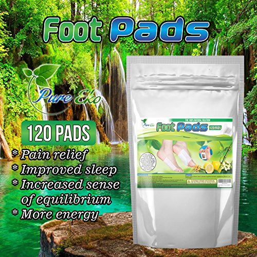 120 Foot Pads + 120 Sheets   For Foot Care, Pain Relief, Relaxation, General Well-being   20% More   By Pure Eko