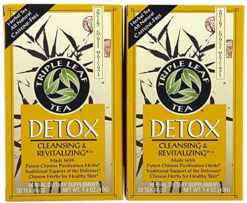 Triple Leaf Triple Leaf Tea Bags, Detox, 20 ct, 2 pk